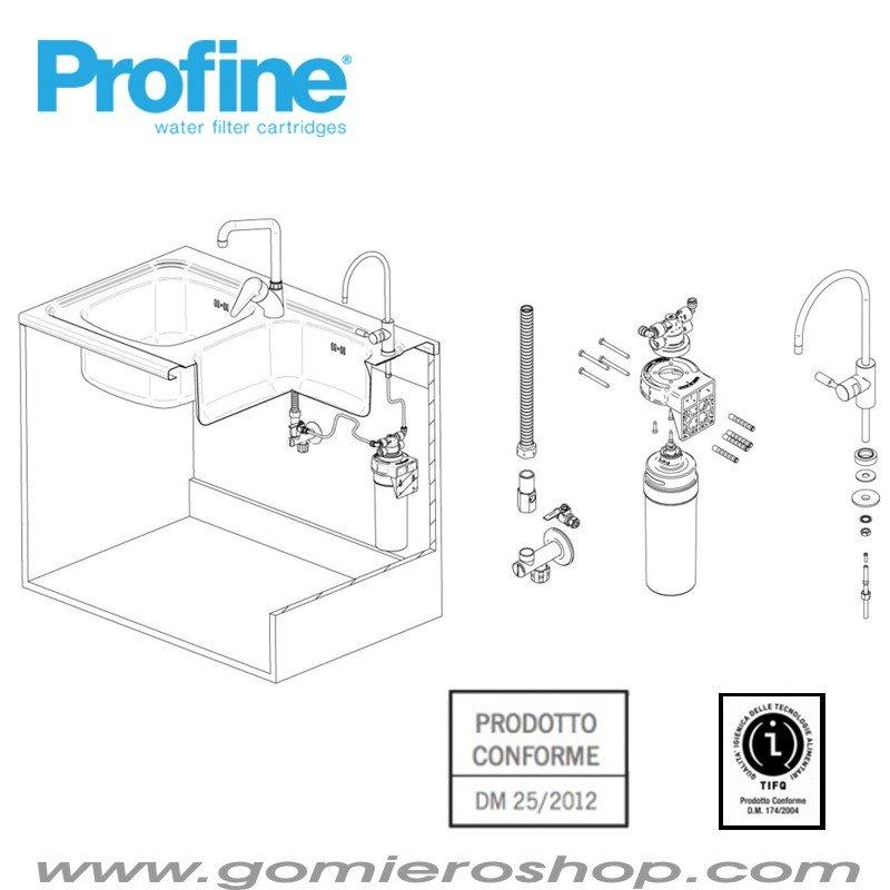Kit depurazione acqua potabile- Trattamento Acqua  Gomiero Shop